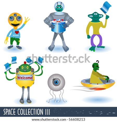 Collection of space icons 3, aliens