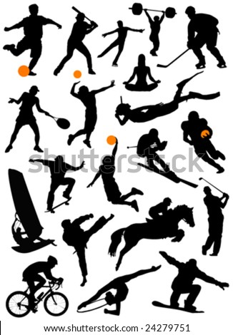 collection of sport vector - stock vector