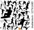collection of sports vector 2 - stock photo