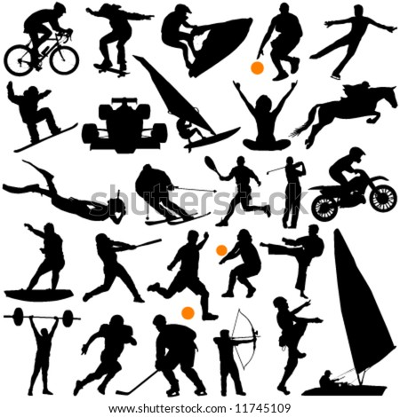 collection of sports vector - stock vector