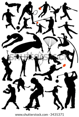collection of sports vector ... - stock vector