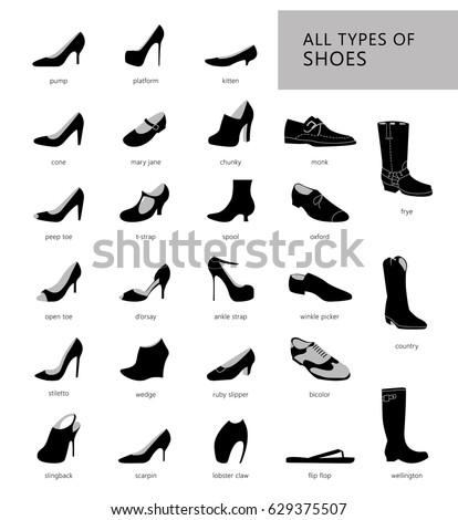 Assorted Types Of Womens High Heel Shoes