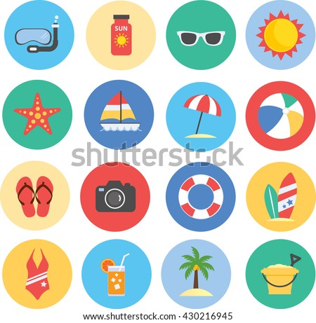 Collection of Summer icons