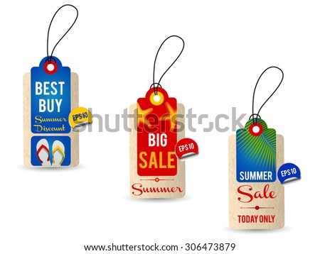 Collection of Summer Sales Hang Tags 2