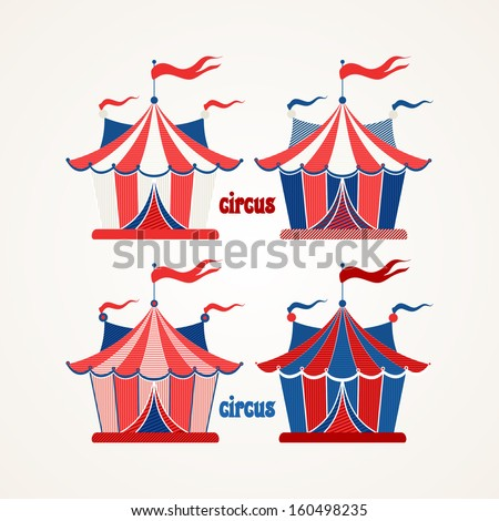 Collection of tents for the circus