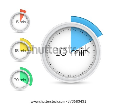 Collection of timers. Vector illustration - stock vector
