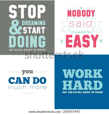 Collection of unusual motivational posters on the sport, healthy lifestyle and fitness for men and women. Vector template with fitness icons on white background. - stock vector