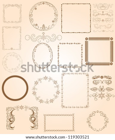 collection of various frames for use in your design