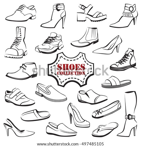 collection of various men's and women's shoes