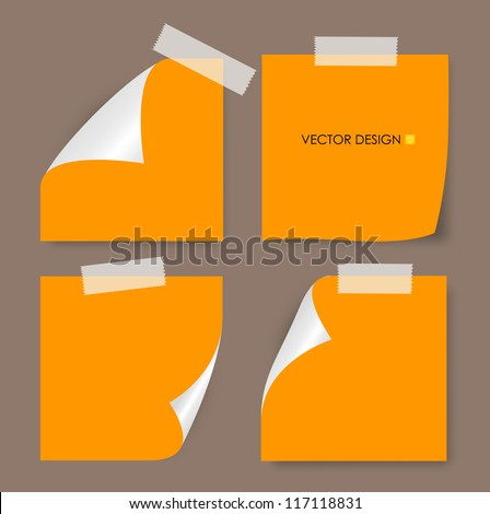Collection of various papers, ready for your message. Vector illustration. - stock vector
