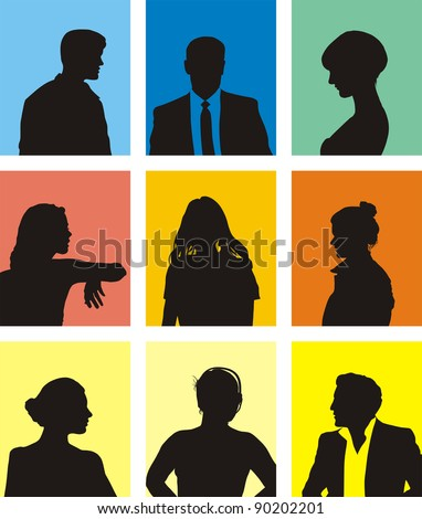 collection of various people avatars - stock vector