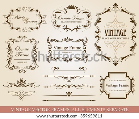 Collection of vector elements   - stock vector