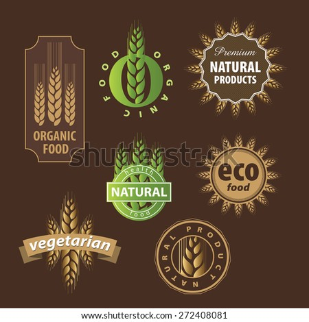 collection of vector floral eco sign