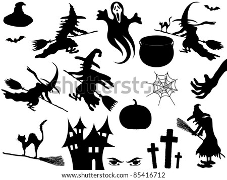 Collection of vector Halloween elements