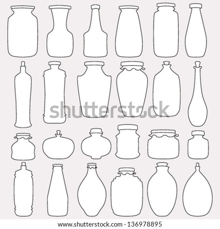 Collection of vector icons - stock vector