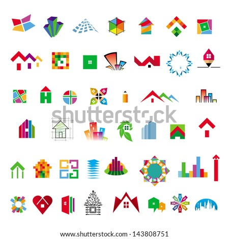 collection of vector icons construction and home improvement - stock vector