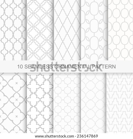 Collection of vector seamless ornamental patterns - stock vector