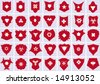 collection of vector shields - stock vector