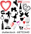 Collection of vector Valentine icons - stock vector