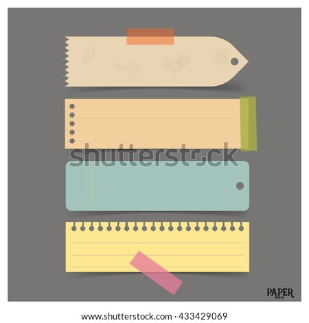 Collection of vintage vector note papers, ready for your message