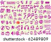 Collection of web icons in doodle style - stock vector