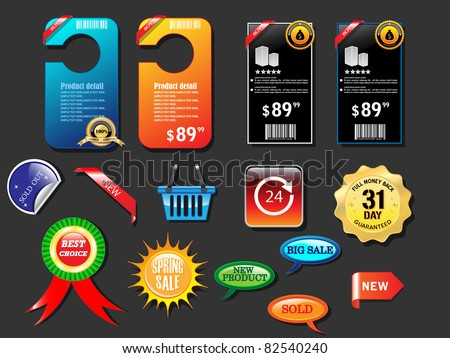 Collection of website element-Vector - stock vector
