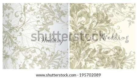 Collection of wedding invitation cards for design - stock vector