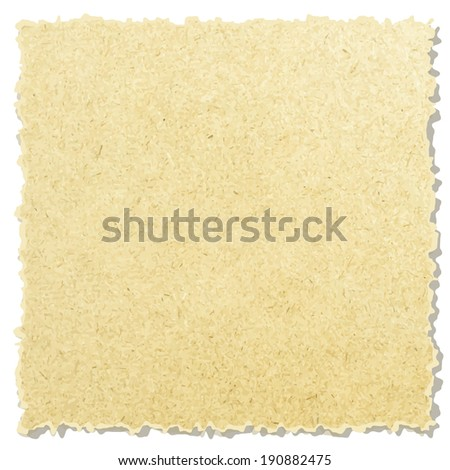 collection of white ripped pieces of news paper on on white background. each one is shot separately  - stock vector