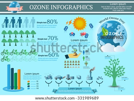 Collection Ozone of infographic  elements .Vector illustration - stock vector