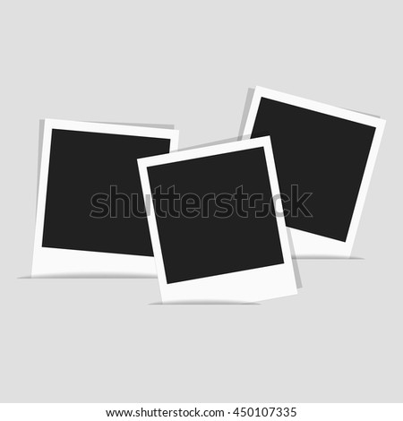Collection photo polaroid frames, space for your photograph and picture. Isolated vector illustration on white background. - stock vector