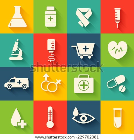 collection set of medical equpment backgrounds. Vector illustration elements icons. Colorful template for you design, web and mobile applications. - stock vector