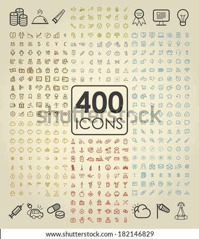 Collection set of universal thin line icons for website and mobile in medical, economy, finance, business, Eco, bio, weather, holiday, travel, web, internet, communication and network - stock vector