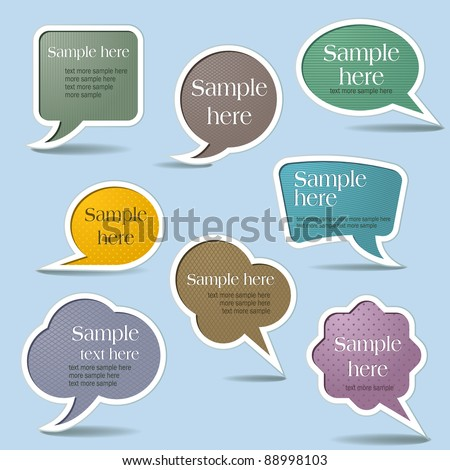 Collection Speech Bubbles, Isolated On White Background - stock vector