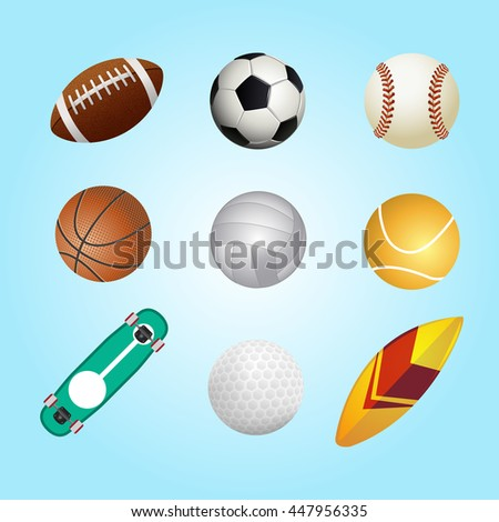 Collection Sports Elements Vector Design