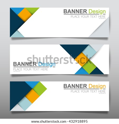 Collection square green and blue horizontal business banner set vector templates. clean modern geometric abstract background layout for website design. simple creative cover header. in rectangle size - stock vector