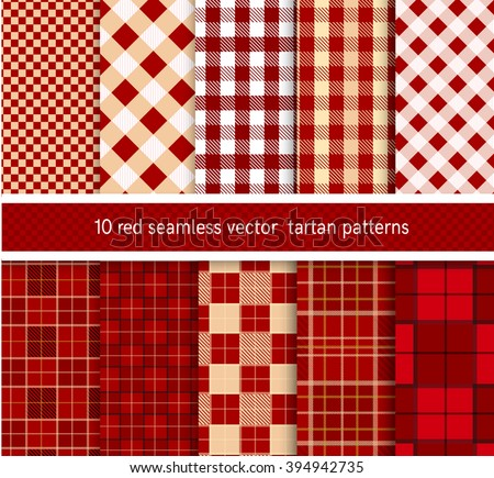 Tartan Pattern lumberjack plaid buffalo check patterns red stock vector 318924704