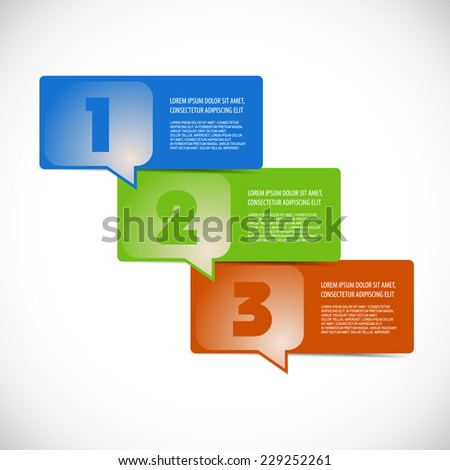 Collection Vector sticker / Price tags information. Product choice or versions  - stock vector