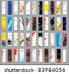 Collection Vertical banners - stock