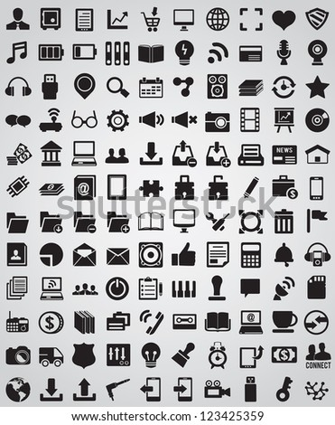 Collection web icons for design - vector icons - stock vector