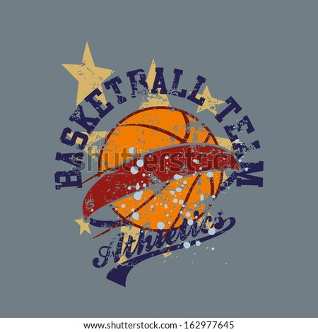 college basketball team vector art - stock vector