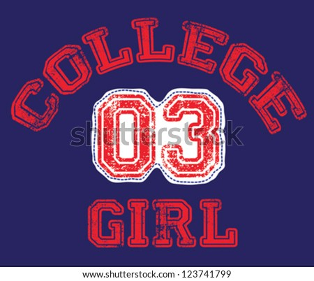 college girl / T-shirt graphics / cute cartoon characters / cute graphics for kids / Book illustrations / textile graphic - stock vector