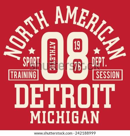 College sport typography, t-shirt graphics, vectors - stock vector