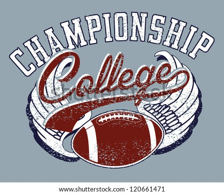 college sports - stock vector