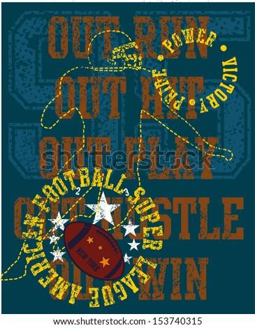 college sports american football vector art - stock vector