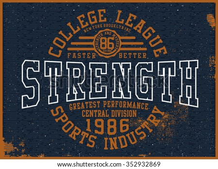 college t-shirt graphic