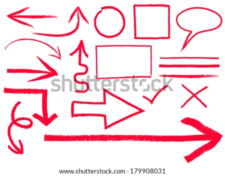 Colletion of arrows and frames - stock vector