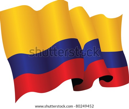colombian flag - stock vector