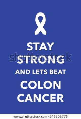 colon cancer poster - stock vector