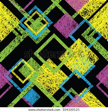 Color a seamless abstract pattern - stock vector