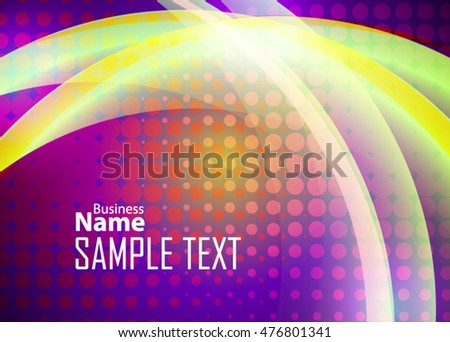 Color abstract background for business card, banner or template. Background with waves. Illustration of abstract background with bright element